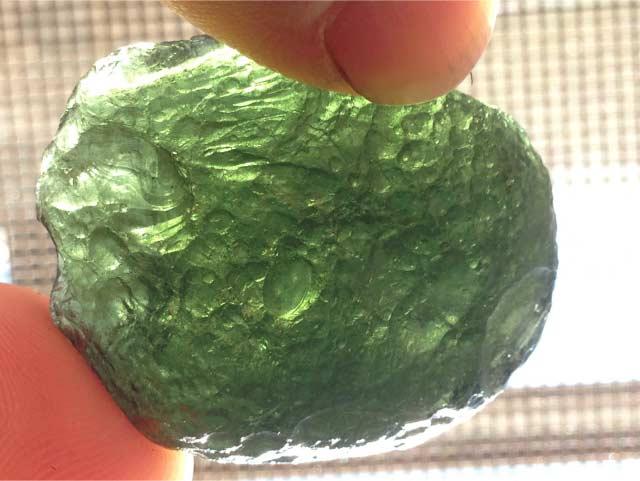 charge moldavite in sunlight