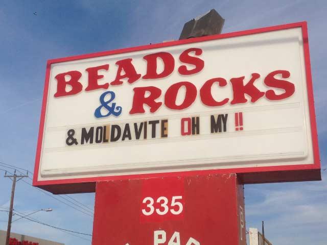 beads and rocks