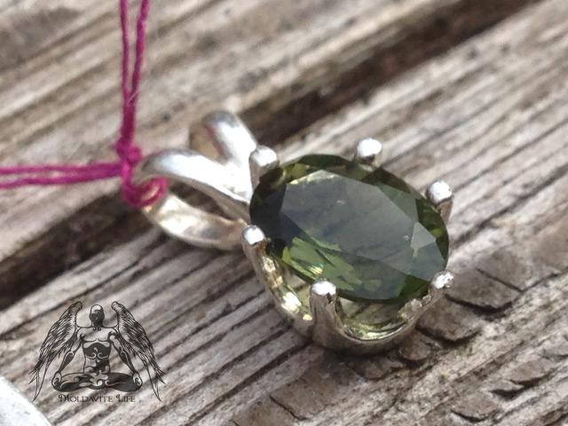 Womens silver moldavite pendant 925 5 x 7mm oval moldavite life moldavite oval gem pendant aloadofball Images