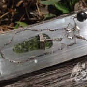 genuine moldavite pendulum