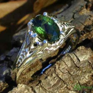silver moldavite ring 2