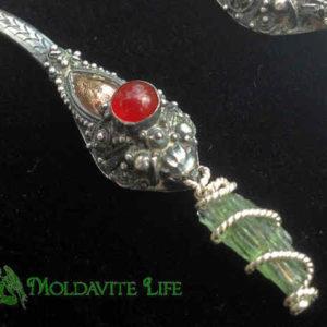 Moldavite Dangle Earrings